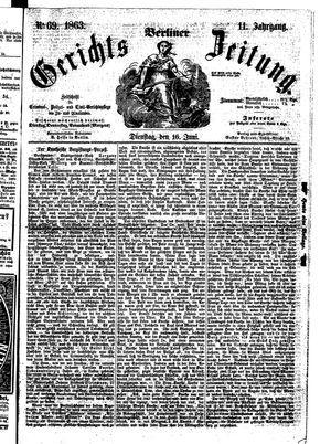 Berliner Gerichts-Zeitung on Jun 16, 1863