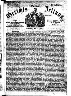 Berliner Gerichts-Zeitung vom 18.06.1863