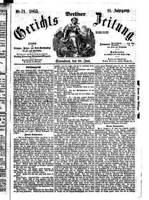 Berliner Gerichts-Zeitung vom 20.06.1863