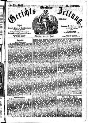 Berliner Gerichts-Zeitung vom 23.06.1863