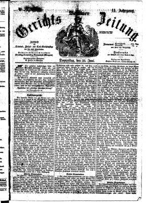 Berliner Gerichts-Zeitung vom 25.06.1863