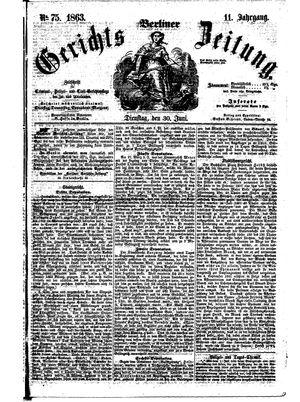 Berliner Gerichts-Zeitung vom 30.06.1863