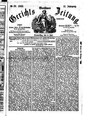 Berliner Gerichts-Zeitung vom 02.07.1863
