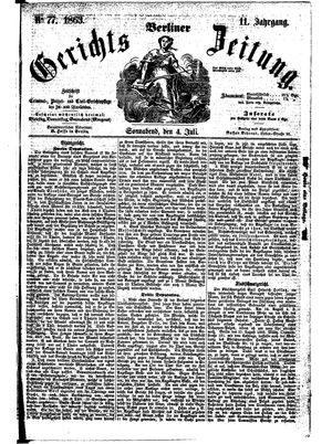 Berliner Gerichts-Zeitung on Jul 4, 1863