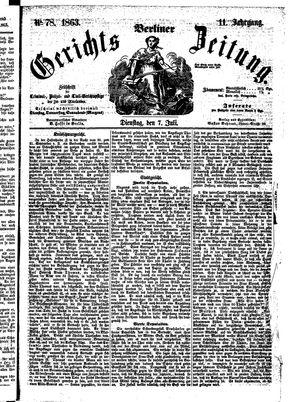 Berliner Gerichts-Zeitung vom 07.07.1863