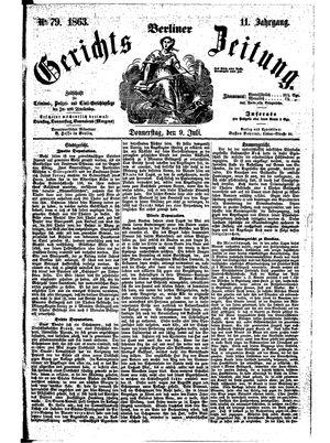 Berliner Gerichts-Zeitung vom 09.07.1863