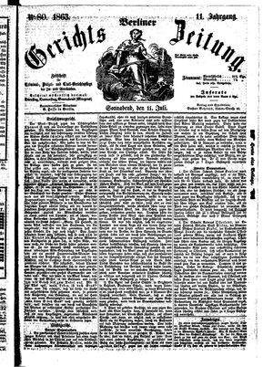 Berliner Gerichts-Zeitung vom 11.07.1863