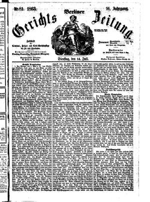 Berliner Gerichts-Zeitung vom 14.07.1863