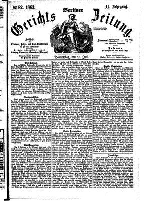 Berliner Gerichts-Zeitung vom 16.07.1863