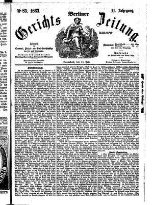 Berliner Gerichts-Zeitung vom 18.07.1863
