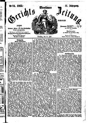Berliner Gerichts-Zeitung vom 21.07.1863
