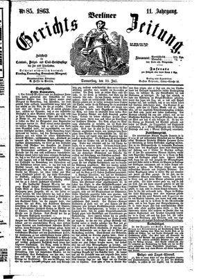 Berliner Gerichts-Zeitung vom 23.07.1863