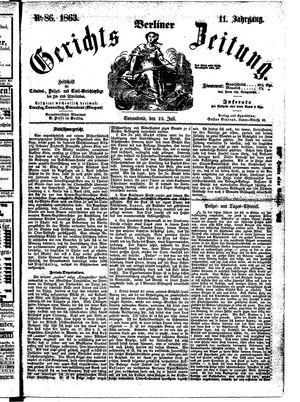 Berliner Gerichts-Zeitung vom 25.07.1863