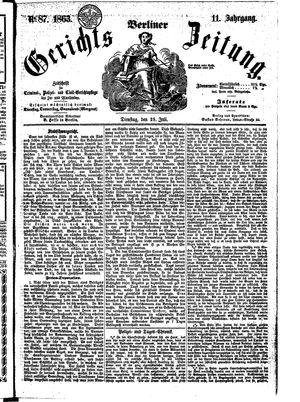Berliner Gerichts-Zeitung vom 28.07.1863