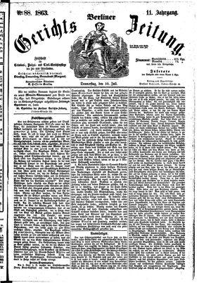 Berliner Gerichts-Zeitung vom 30.07.1863