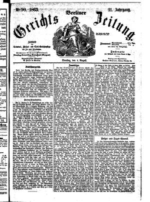 Berliner Gerichts-Zeitung vom 04.08.1863