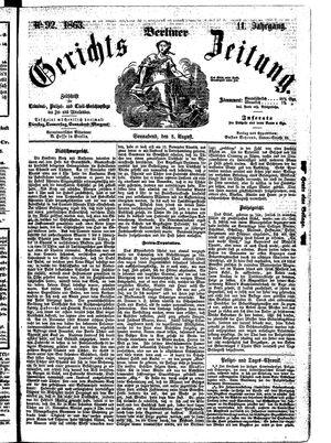 Berliner Gerichts-Zeitung vom 08.08.1863