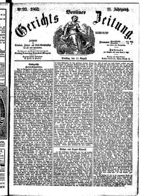 Berliner Gerichts-Zeitung vom 11.08.1863