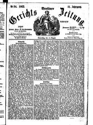 Berliner Gerichts-Zeitung vom 13.08.1863