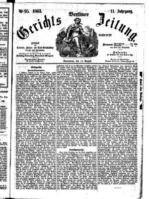 Berliner Gerichts-Zeitung vom 15.08.1863