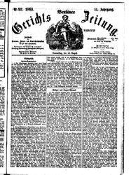 Berliner Gerichts-Zeitung (20.08.1863)