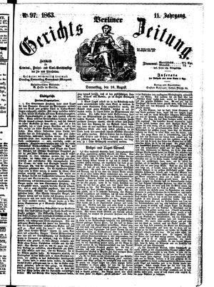Berliner Gerichts-Zeitung vom 20.08.1863