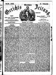 Berliner Gerichts-Zeitung (22.08.1863)