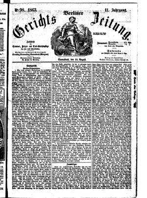 Berliner Gerichts-Zeitung vom 22.08.1863