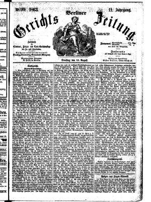 Berliner Gerichts-Zeitung on Aug 25, 1863