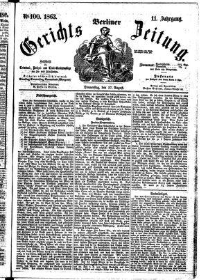 Berliner Gerichts-Zeitung vom 27.08.1863