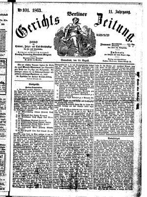 Berliner Gerichts-Zeitung vom 29.08.1863