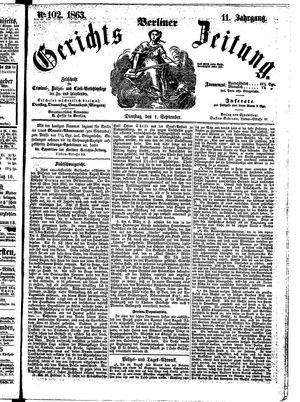 Berliner Gerichts-Zeitung vom 01.09.1863