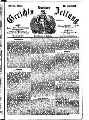 Berliner Gerichts-Zeitung vom 03.09.1863