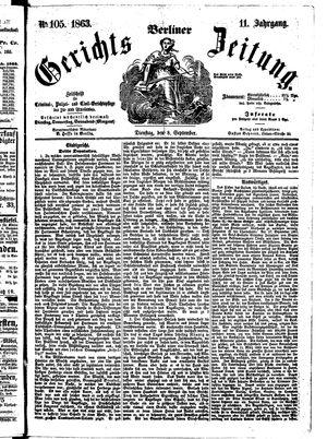 Berliner Gerichts-Zeitung on Sep 8, 1863