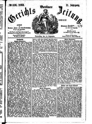 Berliner Gerichts-Zeitung vom 10.09.1863