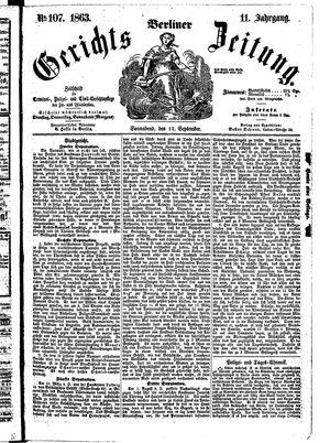 Berliner Gerichts-Zeitung vom 12.09.1863