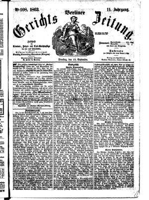 Berliner Gerichts-Zeitung vom 15.09.1863