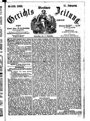 Berliner Gerichts-Zeitung vom 17.09.1863