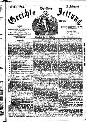 Berliner Gerichts-Zeitung on Sep 19, 1863