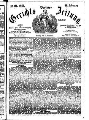 Berliner Gerichts-Zeitung vom 22.09.1863