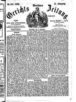 Berliner Gerichts-Zeitung on Sep 24, 1863