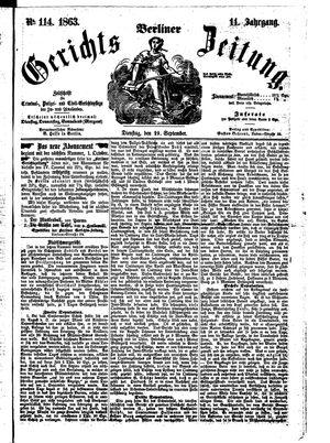 Berliner Gerichts-Zeitung vom 29.09.1863
