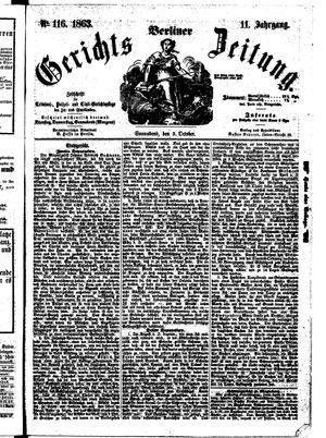 Berliner Gerichts-Zeitung vom 03.10.1863