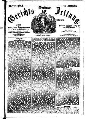 Berliner Gerichts-Zeitung vom 06.10.1863
