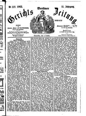 Berliner Gerichts-Zeitung vom 08.10.1863