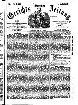 Berliner Gerichts-Zeitung vom 10.10.1863