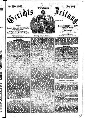 Berliner Gerichts-Zeitung vom 13.10.1863