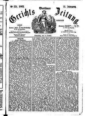 Berliner Gerichts-Zeitung vom 15.10.1863