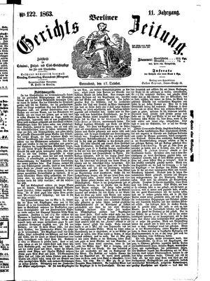 Berliner Gerichts-Zeitung vom 17.10.1863