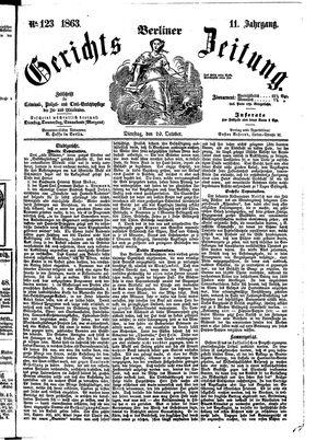 Berliner Gerichts-Zeitung vom 20.10.1863